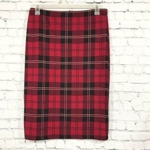 Topshop Plaid Pencil Skirt, sz 12 (aa7)